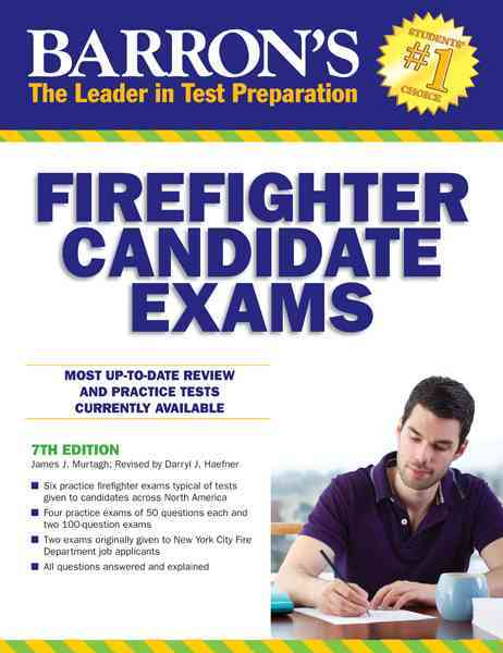 Barron's Firefighter Candidate Exams By Murtagh, James/ Haefner, Darryl